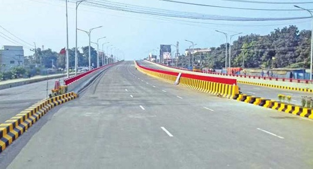 PM inaugurates country`s first 6-lane flyover