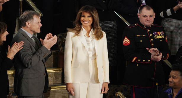 Melania appears for the first time since Stormy claims