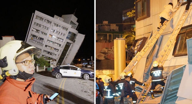 Aftershocks rock Taiwan after deadly quack