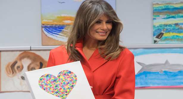 Melania spent her Valentine`s Day away from D.C.