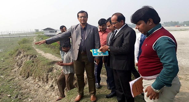 Amin ul Ahsan, Deputy Commissioner of Khulna visited the place of Sheikh Russell Eco Park
