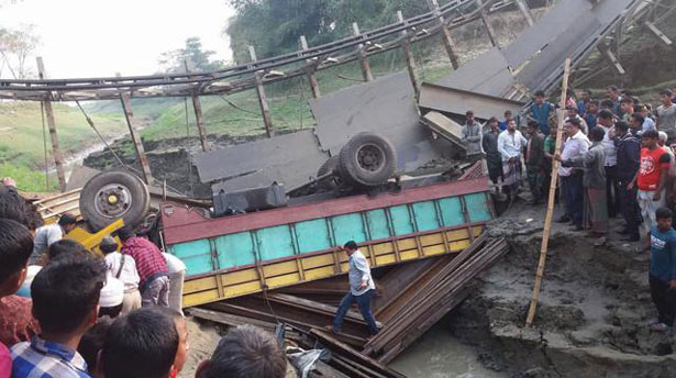 Two killed as truck falls into ditch in Sunamganj