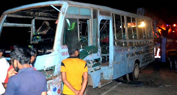 A picnic bus fell into ditch in Comilla, 25 injured