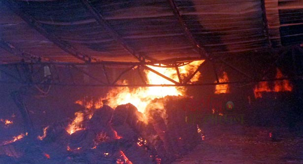 Fire breakes out at jute mill in Biral