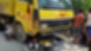 Two killed as truck hits motorcycle