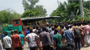 3 killed as two buses collide in Thakurgaon