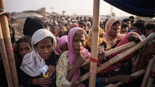 The displaced Rohingyas taking shelter in Bangladesh; File Photo