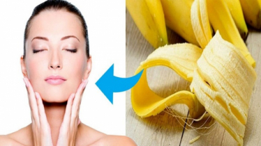 Get brighter skin using banana peel