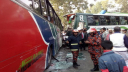 Two killed as 2 buses collide