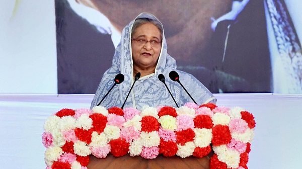 Prime Minister Sheikh Hasina addressing the inaugural function of the 28th International Day of Persons with Disabilities and the 21st National Day of Persons with Disabilities-2019.-PID
