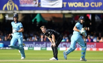 Thrilling World Cup final goes to super over