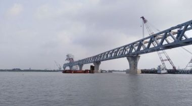 1350 meters of Padma Bridge visible now