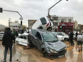 At least 18 dead as floods sweep Iran