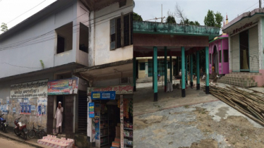 Wall separates madrasah-temple