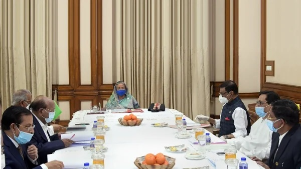 Prime Minister Sheikh Hasina presided over the meeting of Awami League's Local Government Public Representative Nomination Board at Ganobhaban in the capital on Friday; Photo: PID