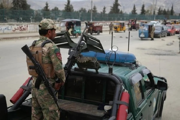 Afghan security forces at the scene; Photo: Collected