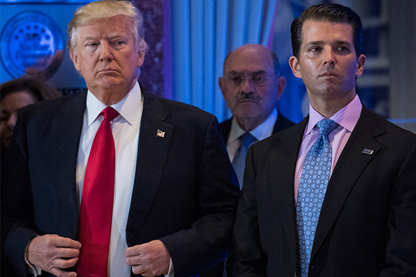 Former United States President Donald Trump and his son Donald Jr.