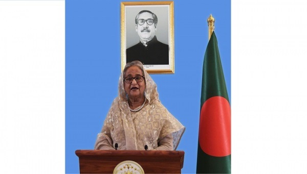 "Prime Minister Sheikh Hasina delivered a virtual speech at the event titled ""Urgent Action on Biodiversity for Sustainable Development"" on the sidelines of the 75th session of the UN General Assembly in New York; Photo: PID"
