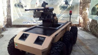 Iran's Army Ground Forces unveils military robot