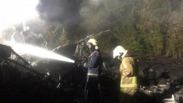 Ukraine military plane crash kills 22