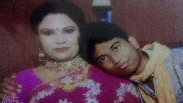 Shamsun Nahar and her son Sajjadul Karim Shaon