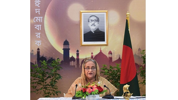 Prime Minister Sheikh Hasina addressed the nation on the occasion of Eid-ul-Fitr, today- PID.