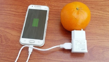 Fruit can charge your phone`s battery!