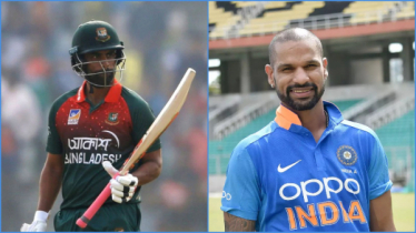 Dhawan sings for Tamim during match