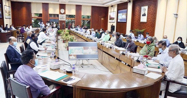 Prime Minister Sheikh Hasina joined the ECNEC meeting virtually from her official Ganabhaban residence while ministers, state ministers, planning commission members and secretaries concerned attended the meeting from the NEC Conference Room in the city's Sher-e-Bangla Nagar area- PID