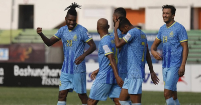 Abahani crush Rahmatganj 6-0 as Belfort slams hat-trick