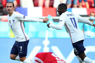 Griezmann saves France with 1-1 draw over Hungary