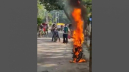 Motorcycle torched again in city after 'got angry' on cop
