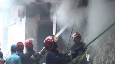 Fire at cotton warehouse in Tongi
