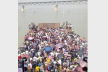 Shimulia ferry ghat sees massive crowds of homebound people