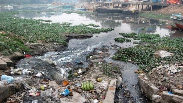 Shitalakshya River in a dilapidated state for pollution