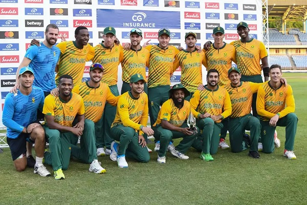 South Africa beat West Indies in last T20I to clinch series; Photo: Collected