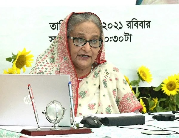 Prime Minister Sheikh Hasina was addressing the inauguration ceremony of the second phase of cash support disbursement among low-income families hit hard by the second wave of the coronavirus pandemic. - PID