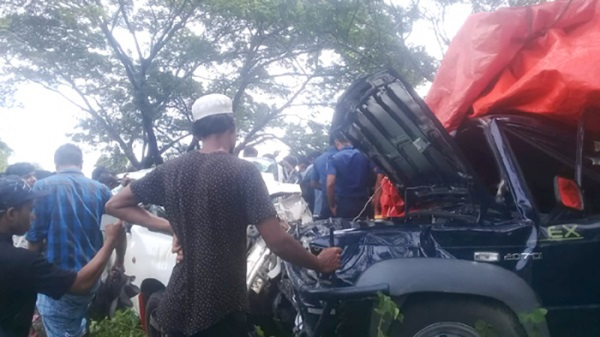 The private car that met with the accident